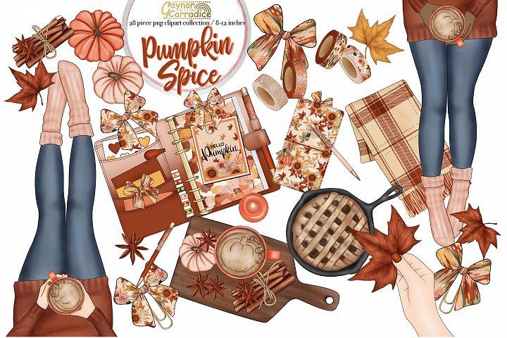 Pumpkin Spice- autumn planner clipart collection