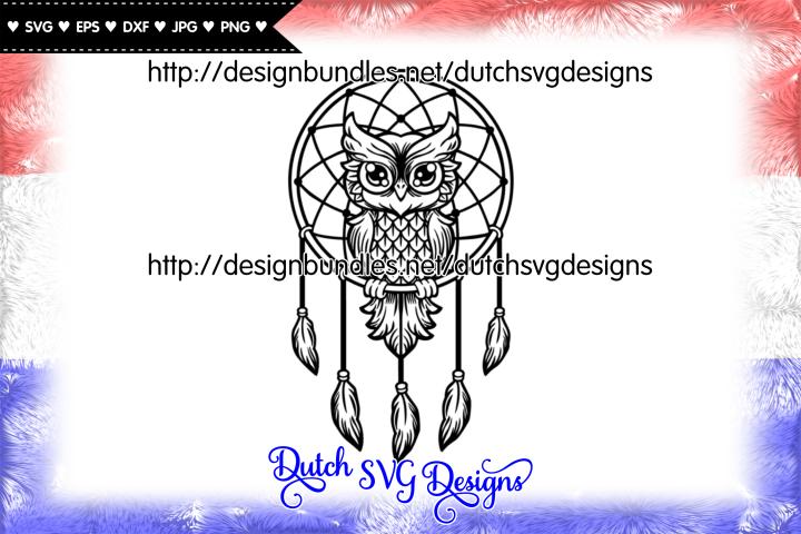 Dreamcatcher cut file with owl, dreamcatcher svg, owl svg