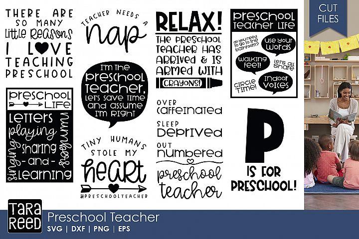 Preschool Teacher - Teacher SVG files 4 Crafters
