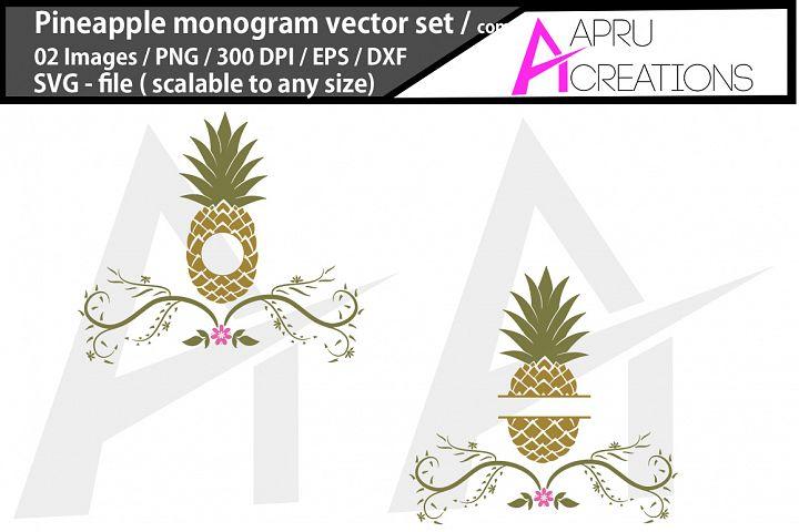 pineapple monogram/ pineapple floral