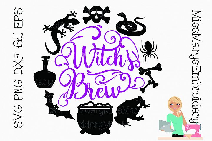 Witchs Brew SVG Cutting File PNG DXF