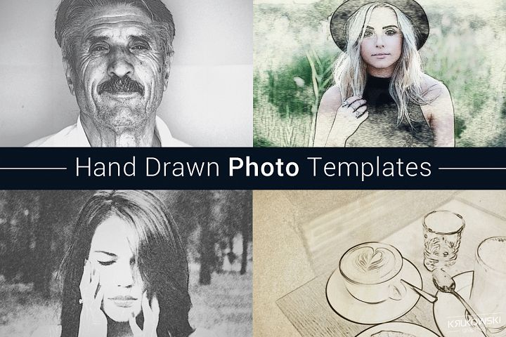 Hand Drawn Photo Template