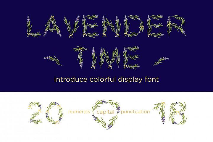 LAVENDER-TIME multicolor font