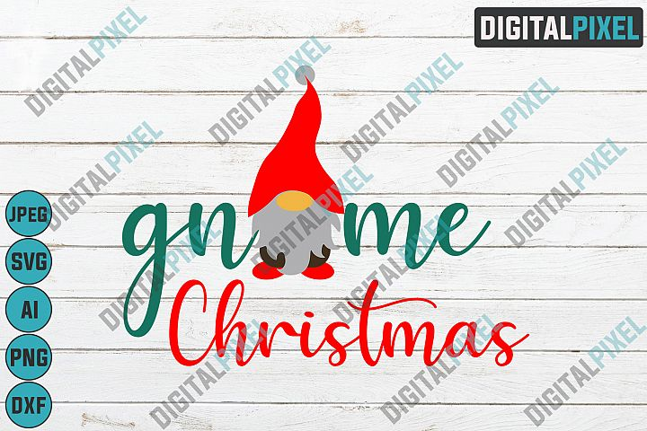 Gnome Christmas SVG PNG JPEG DXF Circut Cut Silhouette 3