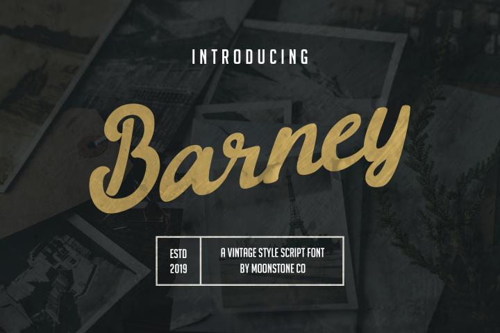 Barney Vintage Style Script Font
