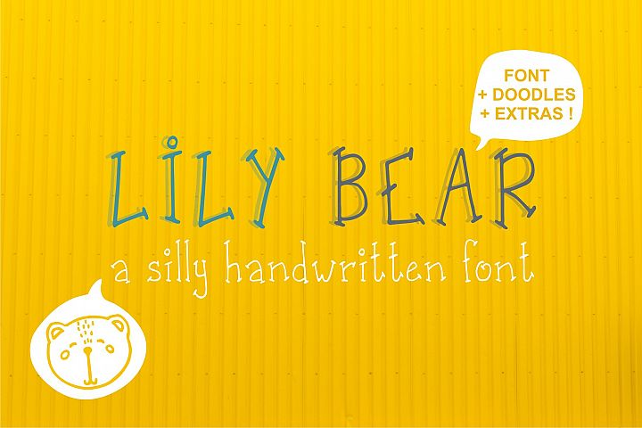 Lily Bear font and doodles
