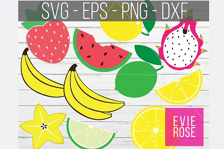 Fruit SVG Bundle | Fruit Clipart Bundle