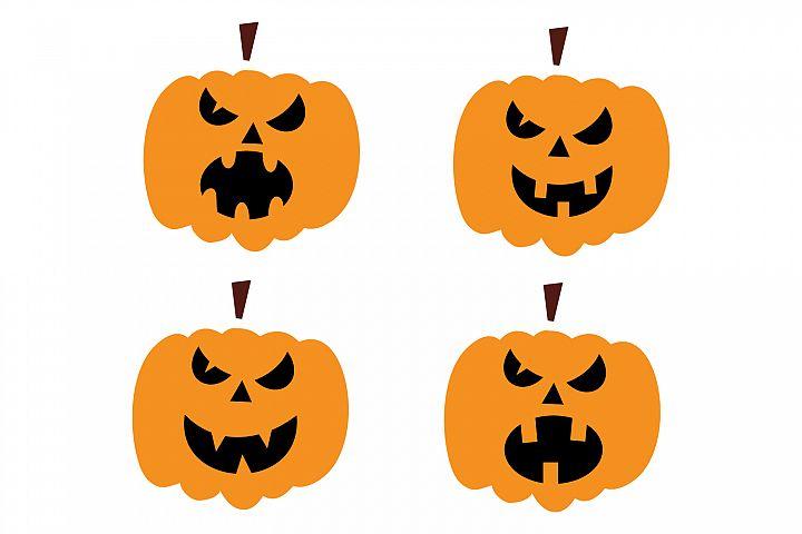 Pumpkin Character sets SVG EPS PNG