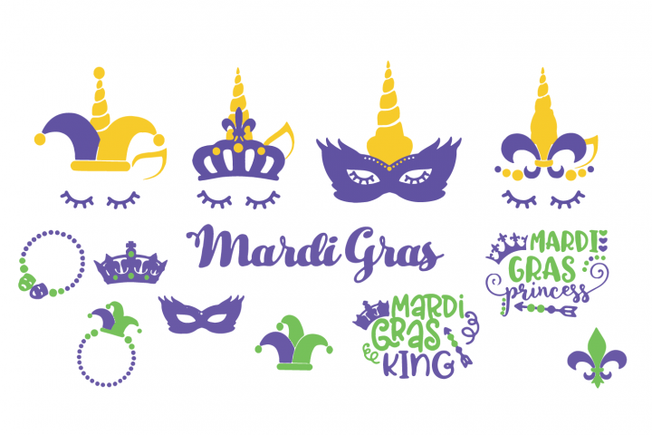 Mardi Gras SVG pack
