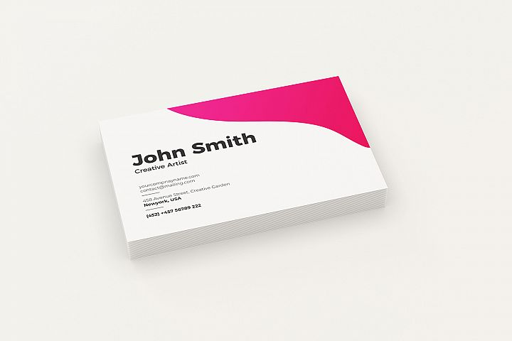 Minimal Perspective Business Cards Mockup