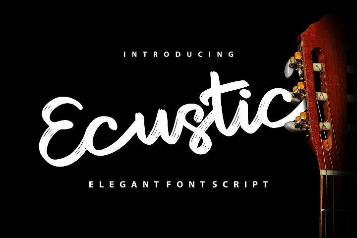 Ecustic | Elegant Script Font
