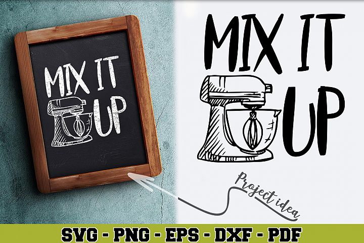 Kitchen SVG n176   Mix it up