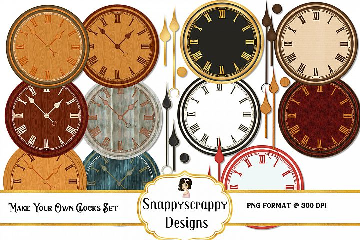 Make your own Clocks Clipart Set