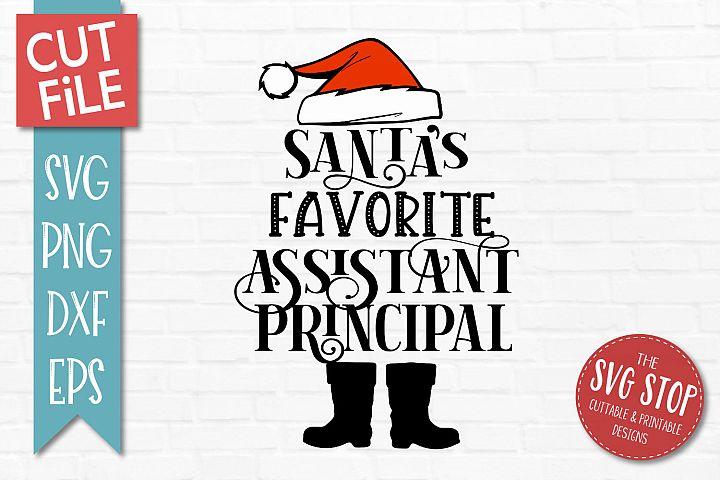 Santas Favorite Assistant Principal SVG, PNG, DXF, EPS