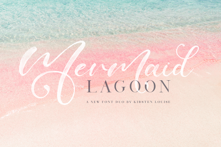 Mermaid Lagoon SVG Font Duo