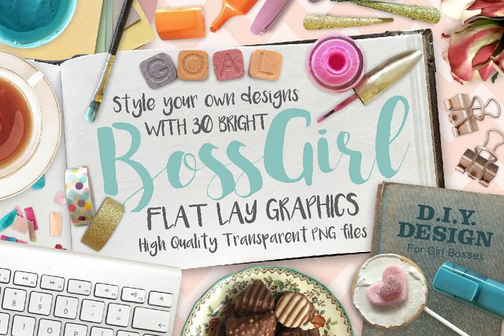 BossGirl Flatlay PNG Photo Pack