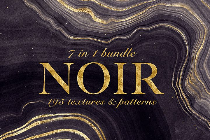 Noir - Patterns & Textures Bundle