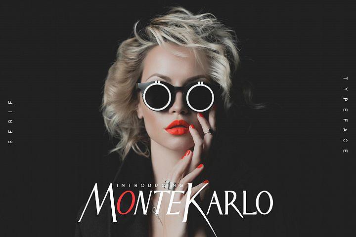 MonteKarlo Serif font family.