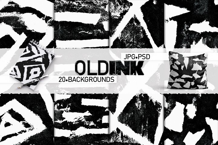 Old Ink. Abstract backgrounds.Textures.