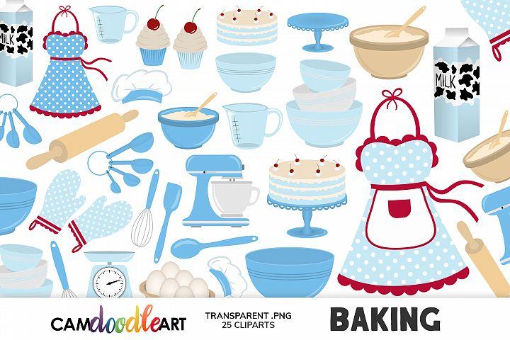 Blue Baking Cliparts
