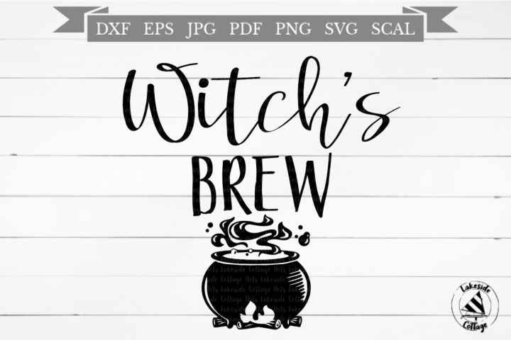 Witchs Brew Coffee and Tea Halloween SVG Design
