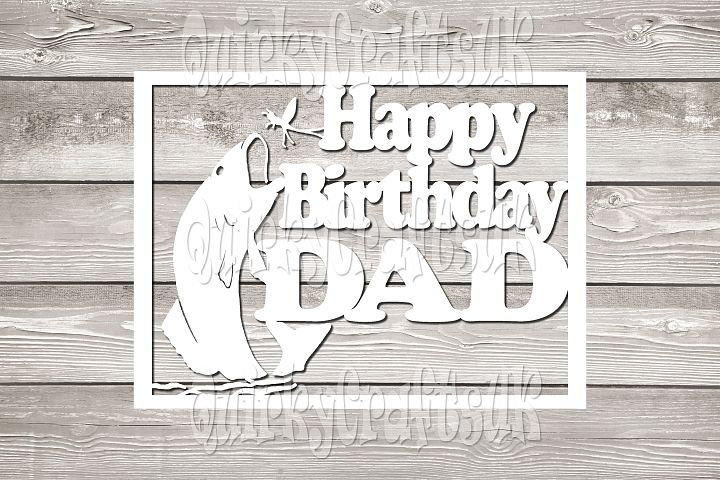 Happy birthday DAD papercutting templates|PNG/PDF/SVG/DXF formats