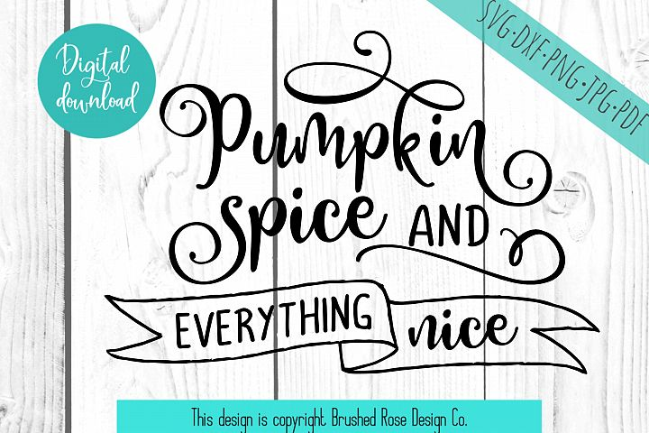 fall svg, pumpkin spice and everything nice, clip art