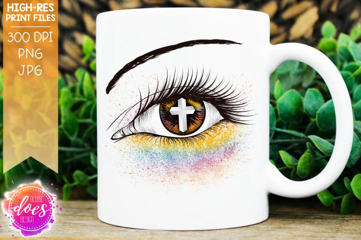 Pastel Cross Eye Design - Printable Design