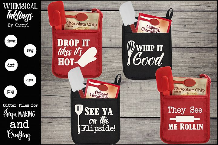 Kitchen Puns Pot Holder SVG Set