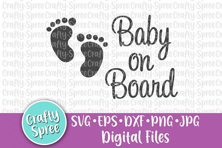 Baby on Board SVG DXF Design Element Sublimation