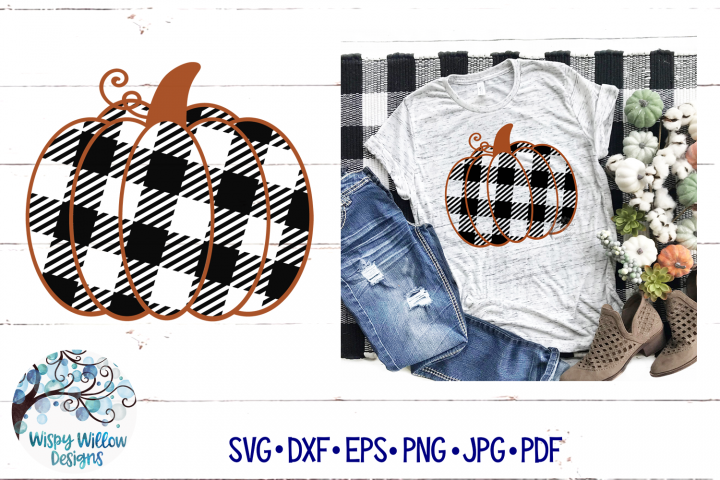 Buffalo Plaid Pumpkin SVG | Fall Pumpkin SVG Cut File