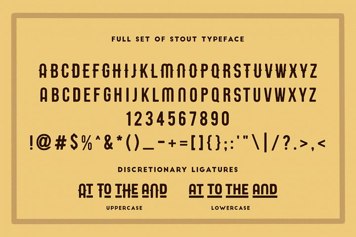 STOUT Typeface - Free Font of The Week Design1