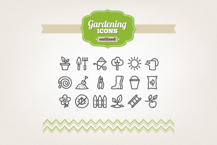 Hand Drawn Gardening Icons