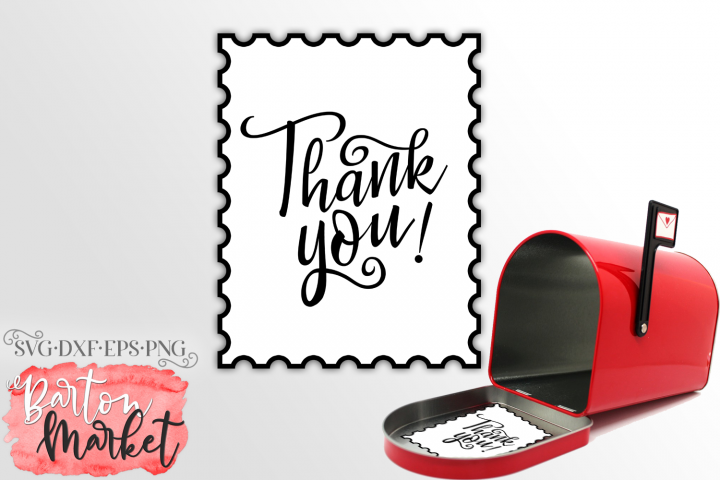 Mailbox Thank You Stamp SVG / EPS / PNG