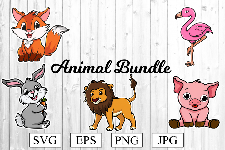Animal SVG Bundle - Fox Svg - Flamingo SVG and much more
