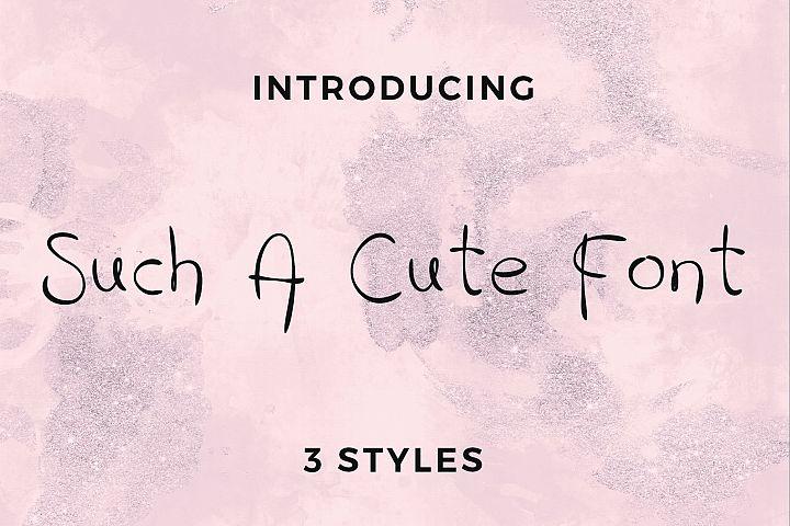 Such A Cute Font