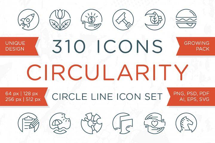 Circularity - Circle Line Icons