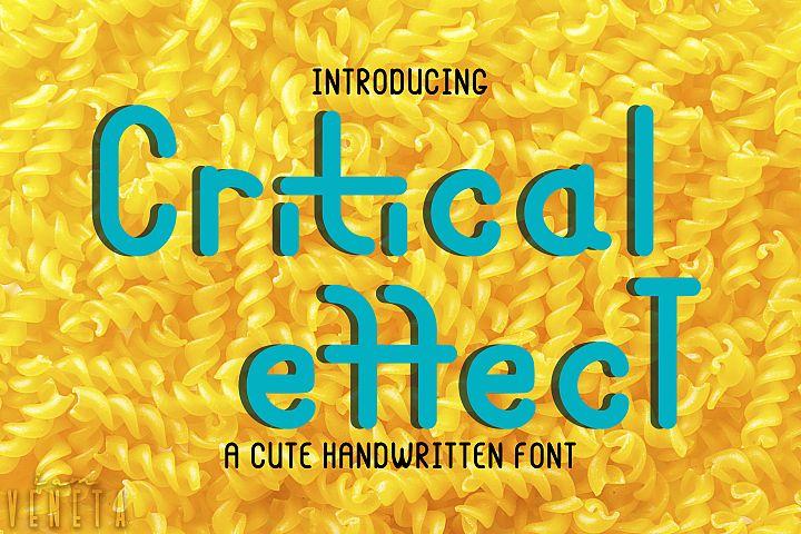 Critical effecT Font