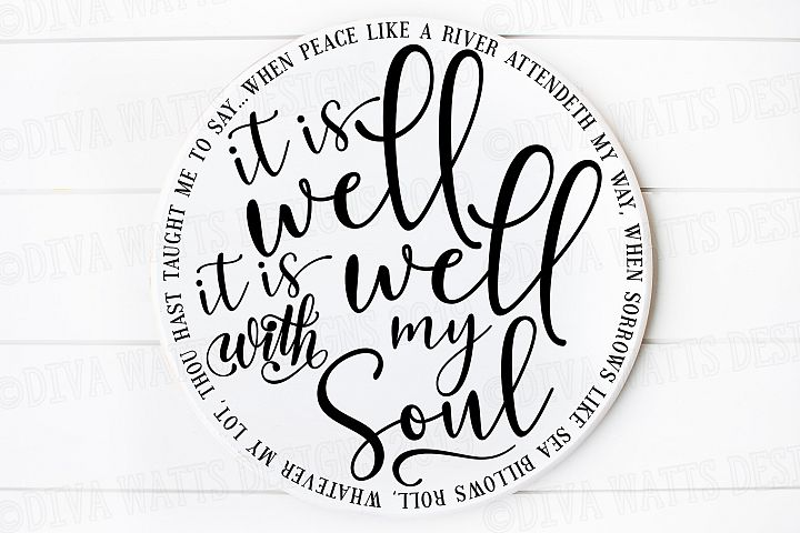 It is Well With My Soul - Christian Hymn SVG DXF Cut File