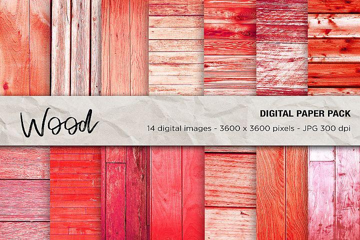 Red Wood Digital Papers