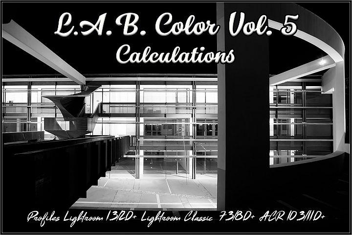 LAB Color V5 - Calculations profiles Lightroom ACR