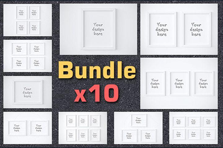 Super BUNDLEx10 frame 8x10 mockup