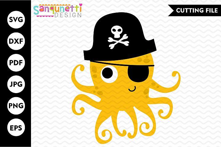 Octopus SVG, pirate cutting files