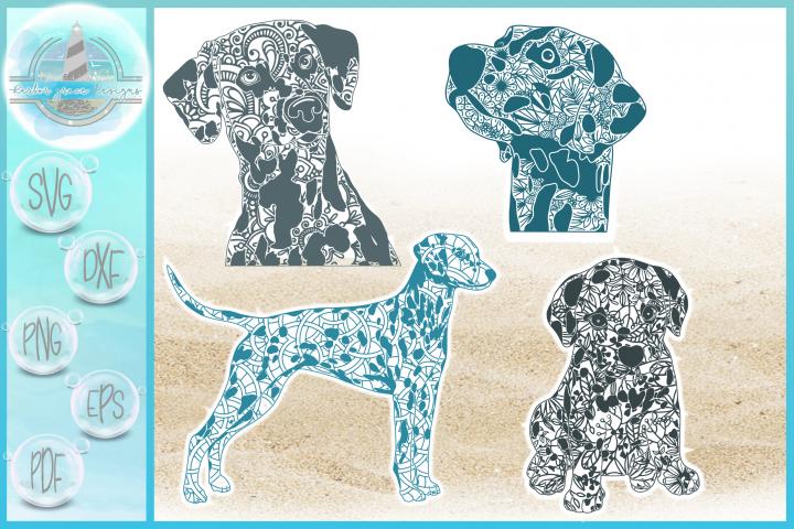 Dalmation Dog Mandala Zentangle SVG