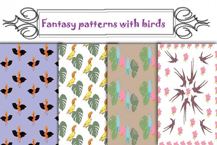 Fantasy Patterns with Birds