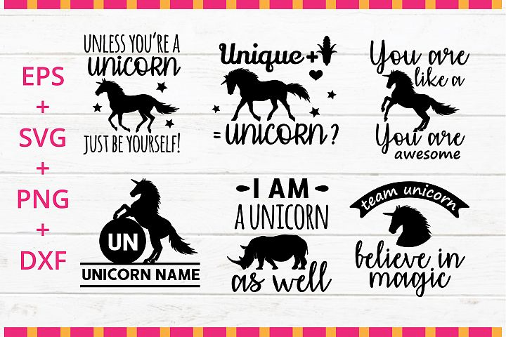 Unicorn funny quotes SVG crafter cutting file