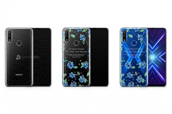 Huawei Honor 9X 2019 TPU Clear Case Mockup