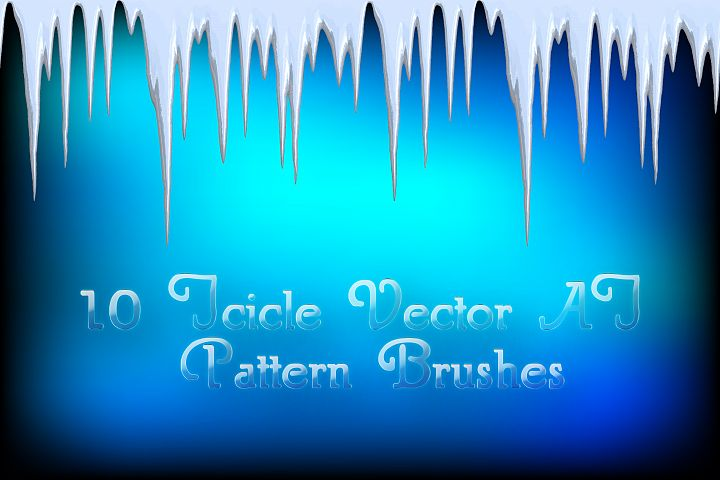 10 Icicle Vector Illustrator Pattern Ice Brushes