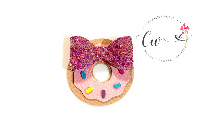Cutie Donut Hair Clip Digital Template