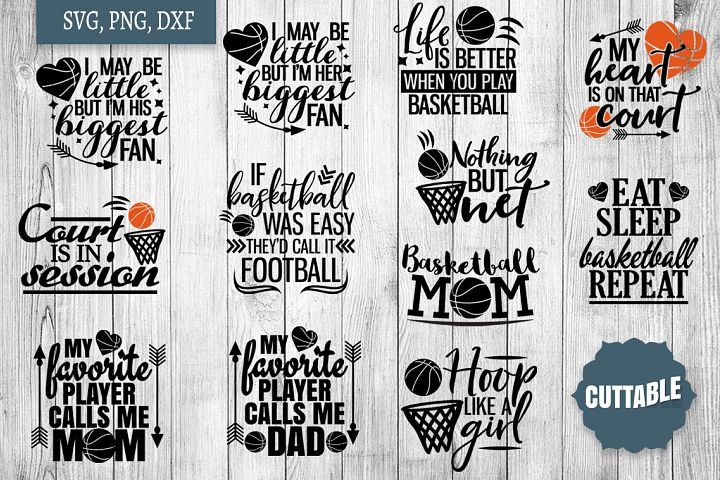 Basketball SVG bundle, Basketball player quote cut files